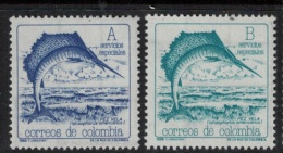 Colombia  1988 SC  982-983 MNH Sailfish Marine Life - Colombia