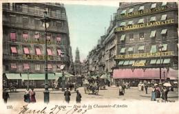 PARIS RUE DE LA CHAUSSEE D ANTIN (magasins Des Galeries Lafayettes) - Nahverkehr, Oberirdisch