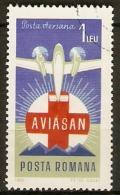 ROUMANIE    -    AVION   /  CROIX - ROUGE    -     Oblitéré - Avions