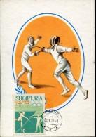 15605 Albania, Maximum  1965 Olympiade Tokyo Fencing Escrime Fechten - Albanien