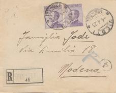 Viesti. 1923. Annullo Frazionario (26 - 58)  Su Lettera Raccomandata - Marcophilie