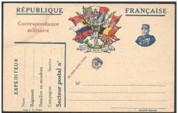 Francia/France: Franchigia Militare, Military Franchise, Franchise Militaire, Bandiere, Flags, Drapeaux - Buste