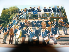 CARTE POSTALE BATTERIE FANFARE LES JOYEUX THIBERIENS THIVIERS 24 DORDOGNE - Musique