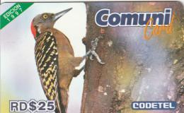 Dominicana - Bird - D$ 25 El Carpintero, 1997 Edition