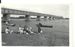 MAUVES- SUR- LOIRE - Le Pont Sur La Loire Et La Plage - Mauves-sur-Loire