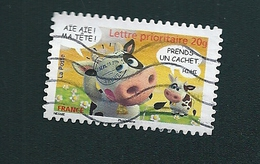 N° 4092 OBLITÉRÉ FRANCE  2007 SOURIRES LES VACHES ALEXIS NESMES  AÏE AÏE ! MA TÊTE ! - France