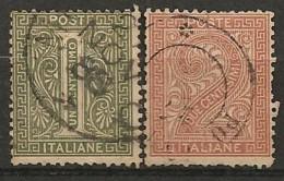 Timbres - Italie - 1863-1877 - Lot De 2 Timbres - N° 12 Et 13 -