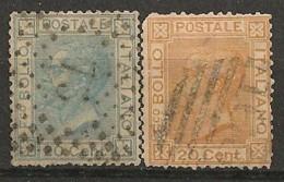 Timbres - Italie - 1867-1877 - Lot De 2 Timbres - N° 23 Et 24 -
