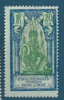Inde Française - Yvert N°  94  (*)  - Ava 14124 - India (1892-1954)