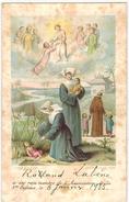 IMAGE PIEUSE HOLY CARD SANTINI Turgis  : Oeuvre De La Sainte Enfance Souvenir Roland LABENE En 1935 - Images Religieuses