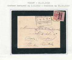 Lettre De Deuil TP Germania RECHRIVAL Via TILLET 1915 Vers ORROIR/AMOUGIES - Censure MARCHE Et Etapes -- XX829 - Guerre 14-18