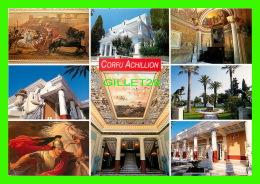 GRÈCE - CORFU ACHILLION - 8 MULTIVUES - DIMENSIOIN 12 X 17 Cm  - ADAM EDITIONS - - Grèce