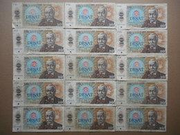 Czechoslovakia 10 Korun 1986 (Lot Of 15 Banknotes) - Tchécoslovaquie