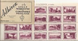 Vignettes Outre-mer Adhérez à La Ligue Maritime Et Coloniale Française 1ère Série - Erinnofilia