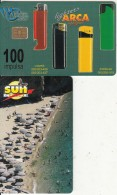 MONTENEGRO - Arca Lighters, SUN Ice Cream, Tirage 50000, 06/01, Sample(no CN)