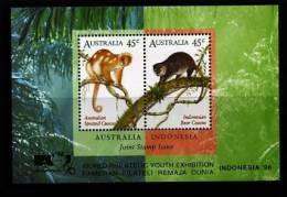AUSTRALIA - 1996 FAUNA AUSTRALIA-INDONESIA JOINT ISSUE MS OVPT INDONESIA 96 MINT NH - Blocchi & Foglietti