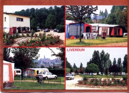 54    CPSM De LIVERDUN    Camping Au Bords De La Moselle     Très Bon état - Liverdun