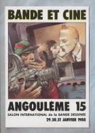 Carte Salon - Angouleme (16) - Enki Bilal. Bande Et Ciné - 15e SalonInternational De La Bande Dessinée - Janvier 1988 - Borse E Saloni Del Collezionismo