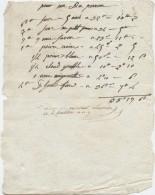 Argentan,an 9,  Facture D'épicerie  Pour Duperron,Du Perron, ,savon,poivre,girofle, Mignonnette; Lacroix - Documenti Storici