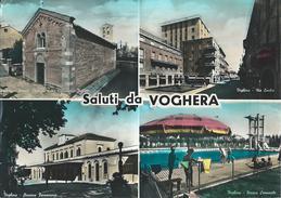 SALUTI DA VOGHERA (PV) ) - VEDUTINE - F/G -  V: 1960 - Altre Città