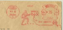 Nederlands Indië - 1932 - 35 Cent Roodfrankering / Meter SHELL TOX Is De Beste, Machine 9  Op Grote Zakenbrief - Niederländisch-Indien