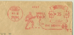 Nederlands Indië - 1932 - 35 Cent Roodfrankering / Meter SHELL TOX Is De Beste, Machine 9  Op Grote Zakenbrief - India Holandeses