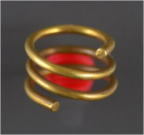 Luristan Gold Coil Hair Ring - Archéologie