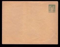 France Lettre Entier Postal Type Sage 5c Neuf N° 75 - E4 Cote 30€ 152x117mm - Enveloppes Types Et TSC (avant 1995)