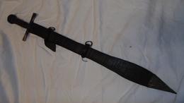EPEE AFRIQUE ANCIENNE SOUDAN KASKARA ARME PRIMITIVE - Armes Blanches