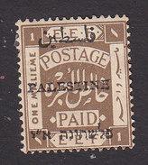 Palestine, Scott #15c, Mint Hinged, Palestinian Stamp Overprinted, Issued 1921