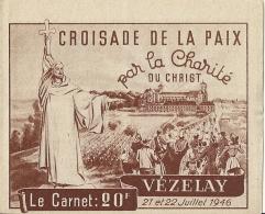Vignettes Vezelay - Croisade De La Paix Par La Charité Du Christ - Erinnofilia
