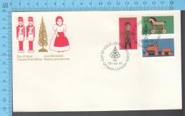 Canada - 1979 Set Scott #839-840-841, Christmans Antiques Toys - FDC PPJ , Fancy Cancelation - Non Classés
