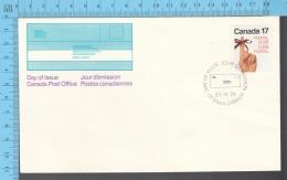 Canada - 1979 Scott #715, Postal Code ,Female Hand Red/ribbon - FDC PPJ , Fancy Cancelation - Poste