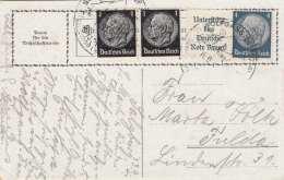 1940 DR-Sonderfrankierung Zur Unterstützung Deutsche Rote Kreuz Auf Künstlerkarte Salzburg - Briefe U. Dokumente