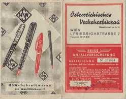 ÖSTERREICH Mappe Für Reisedokumente 1953 - Autres
