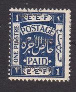 Palestine, Scott #20, Mint Hinged, Palestinian Stamp Overprinted, Issued 1921