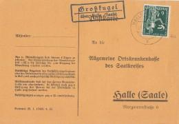 DR Karte EF Minr.622 Halle26.8.36 Lpst. Großkugel über Halle (Saale) - Deutschland
