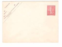 France Lettre Entier Postal Neuf Type Semeuse Lignée 10 Cts 129 - E1 Date 534 123x96mm Cote 17,50€ - Enveloppes Types Et TSC (avant 1995)