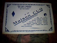 Buvard Publicitaire Maison Cuq A Capdenac Article De Chauffage Pompes ... - M