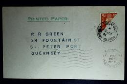 Reich: Guernsey Halbierung I Auf Karte - Ocupación 1938 – 45