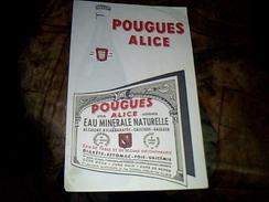 Buvard Publicitaire Eau Minerale Pougues Alice - Buvards, Protège-cahiers Illustrés