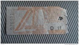 Bus Ticket From Cancun Mexico - Fahrkarte - Transportation