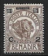 Somalia, Scott # 70 Mint Hinged Elephant, Surcharged, 1926 - Somalia