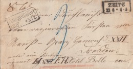 Preussen Paketbegleitbrief R2 Zeitz 23.8. Ansehen !!!!!!!!!!!!! - Preussen