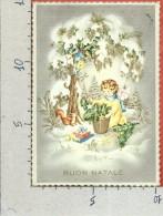 CARTOLINA VG ITALIA - BUON NATALE - Bimbo Con Scoiattolo - Dorata - 10 X 15 - ANN. 1959 - Natale