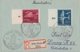 DR R-Brief Mif Minr.867,868 SST Halle 1.7.44 - Deutschland