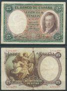 ESPAGNE SPANIEN SPAIN ESPAÑA 1931 24 ABRIL 25 PTAS VICENTE LOPEZ 2ª REPÚBLICA ESPAÑOLA - [ 2] 1931-1936 : Republiek