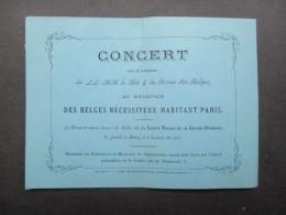 VP TICKET D'ENTRéE (V1618) Pour Les Belges Nécessiteux De Paris (2 Vues) Sous Le Patronage Du Roi & La Reine Des Belges - Tickets - Entradas