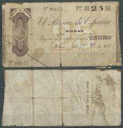 ESPAGNE SPANIEN SPAIN ESPAÑA 1936 25 PTAS BANCO ESPAÑA-BILBAO (EUZKADI) - [ 2] 1931-1936 : Repubblica