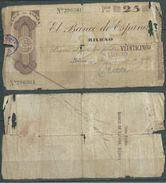 ESPAGNE SPANIEN SPAIN ESPAÑA 1936 25 PTAS BANCO ESPAÑA-BILBAO (EUZKADI) - [ 3] 1936-1975 : Regency Of Franco